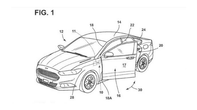 Ford patents voice command vehicle doors